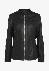 Wallis - PONTE SIDE PANEL - Faux leather jacket - black - 4