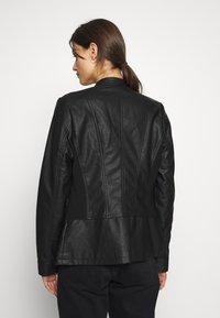 Wallis - PONTE SIDE PANEL - Faux leather jacket - black - 2