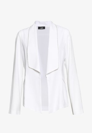 DIAMANTE TRIM JACKET - Blazer - ivory