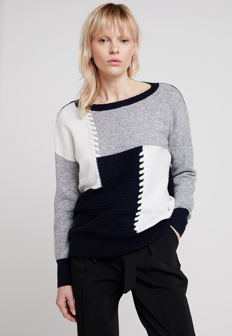 Wallis - PATHWORK PRINT JUMPER - Strickpullover - navy