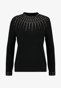 Wallis - Stickad tröja - black - 4