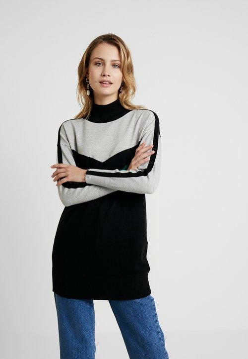 oferta Wallis CHEVRON STRIPE SLEEVE TUNIC - Sweter - grey Odzież Damska DOBE-PC8