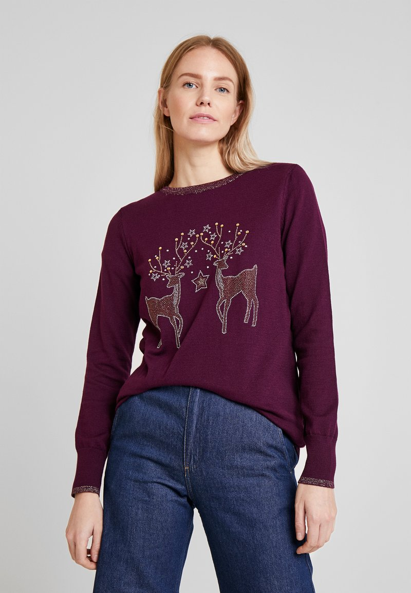 Wallis - Jumper - berry