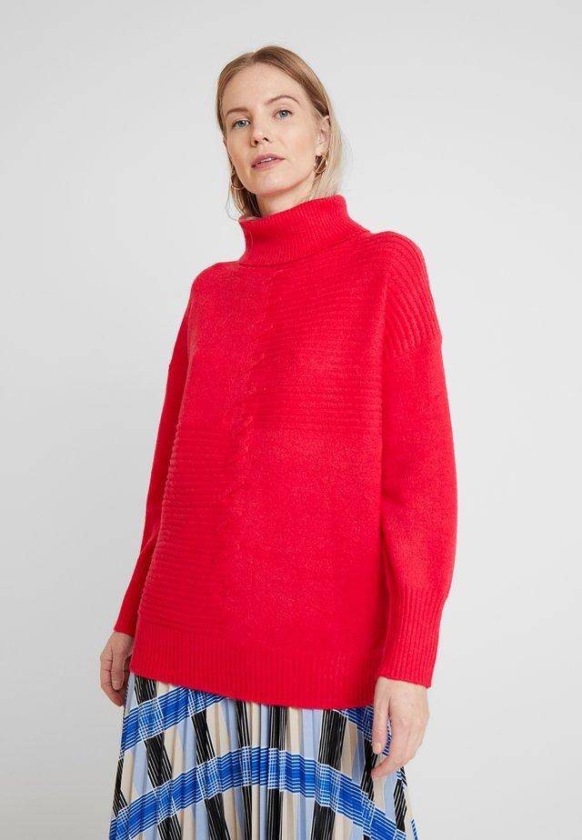 STITCH FRONT COMPACT JUMPER - Sweter - pink