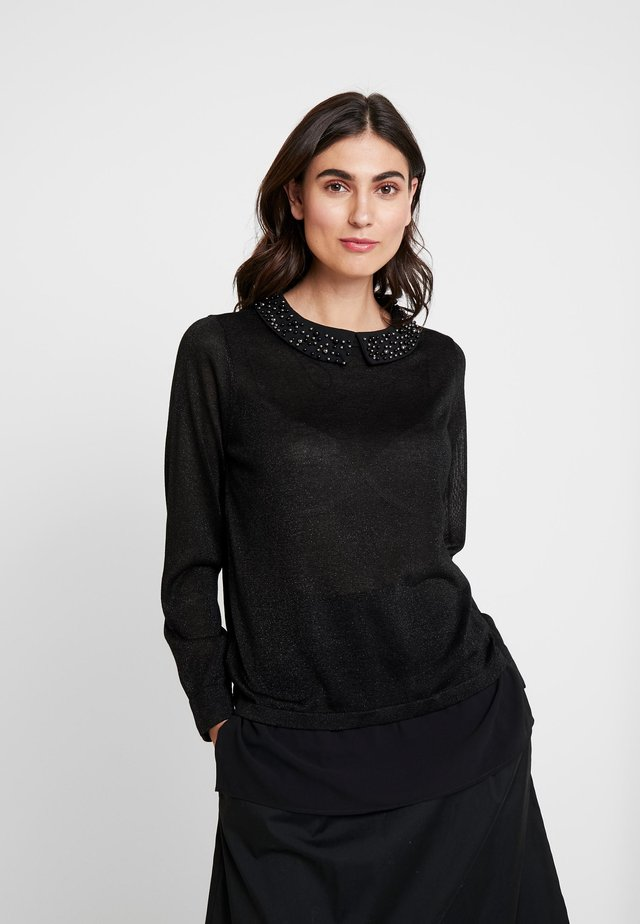 COLLAR - Sweter - black