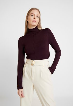 STUD SEAM POLO NECK BERRY - Neule - berry