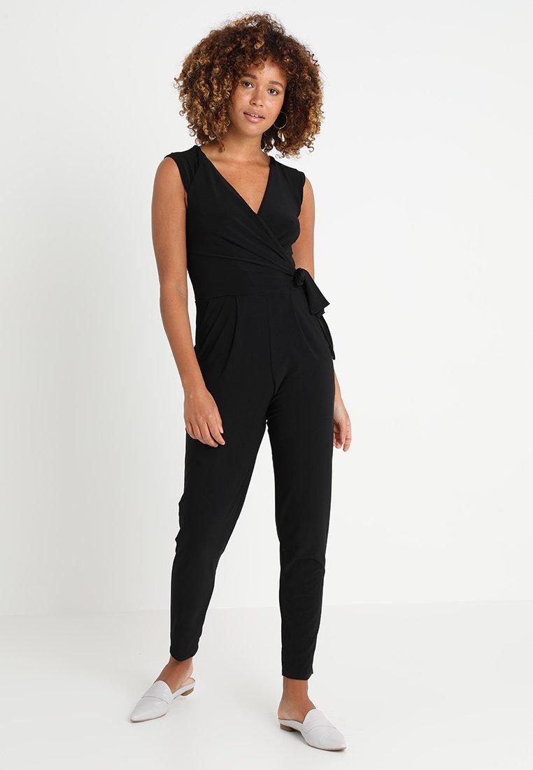 Wallis - WRAP SIDE TIE - Jumpsuit - black