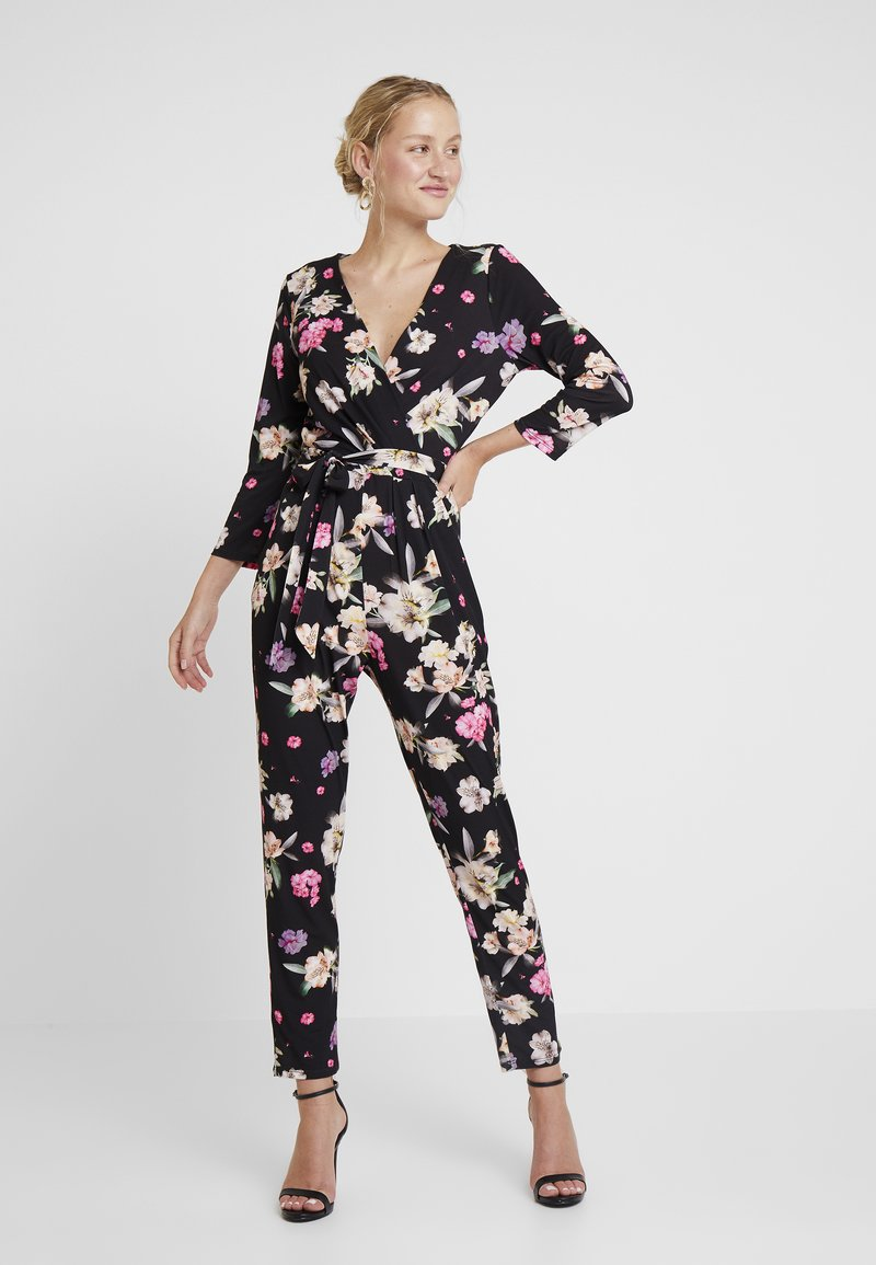 Wallis - SUMMER PETAL 3/4 SLEEVE - Jumpsuit - black