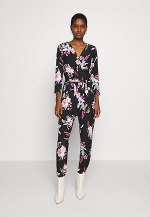 MAGNOLIA FLORAL - Jumpsuit - black
