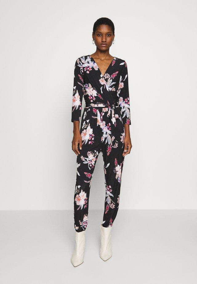 MAGNOLIA FLORAL - Overall / Jumpsuit /Buksedragter - black