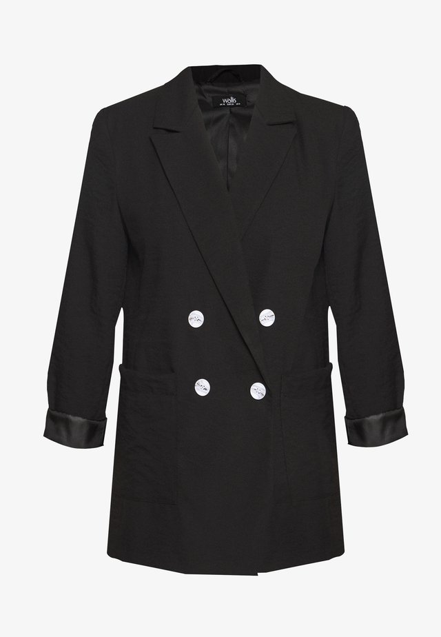 PATCH POCKET - Short coat - black