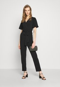 Wallis - PUFF SLEEVE - Tuta jumpsuit - black - 1