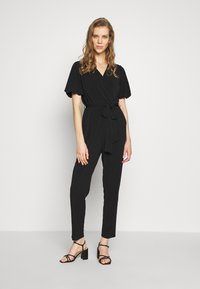 Wallis - PUFF SLEEVE - Tuta jumpsuit - black - 0