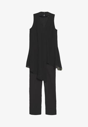 OVERLAYER CHOCKER NECK - Jumpsuit - black