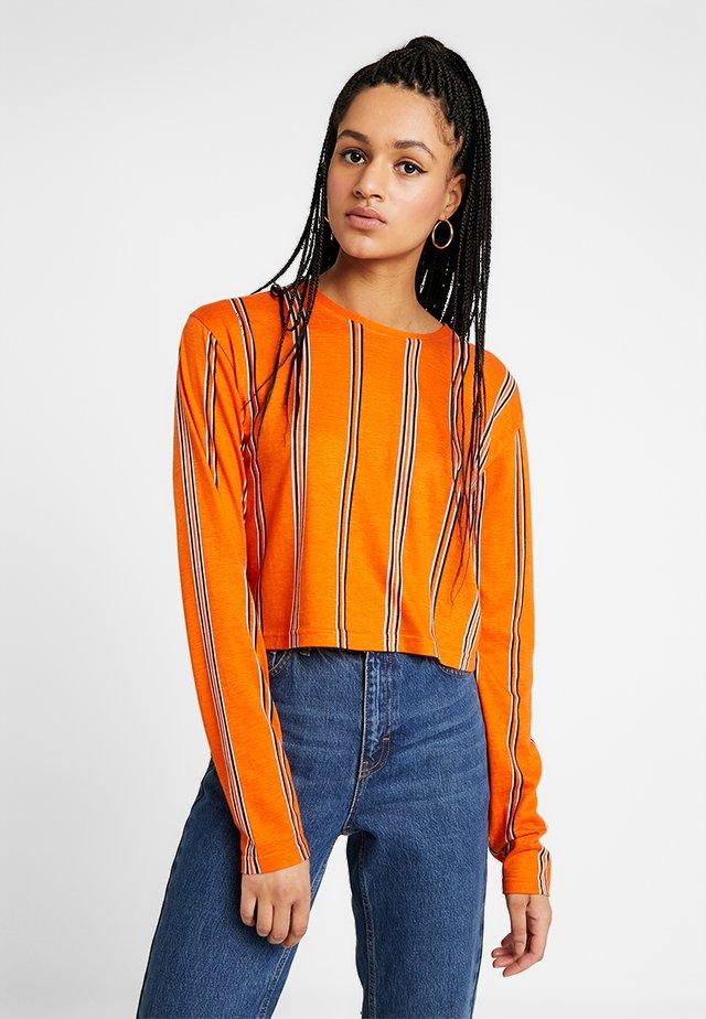 STEPHIE PRINTED - Long sleeved top - rust/offwhite