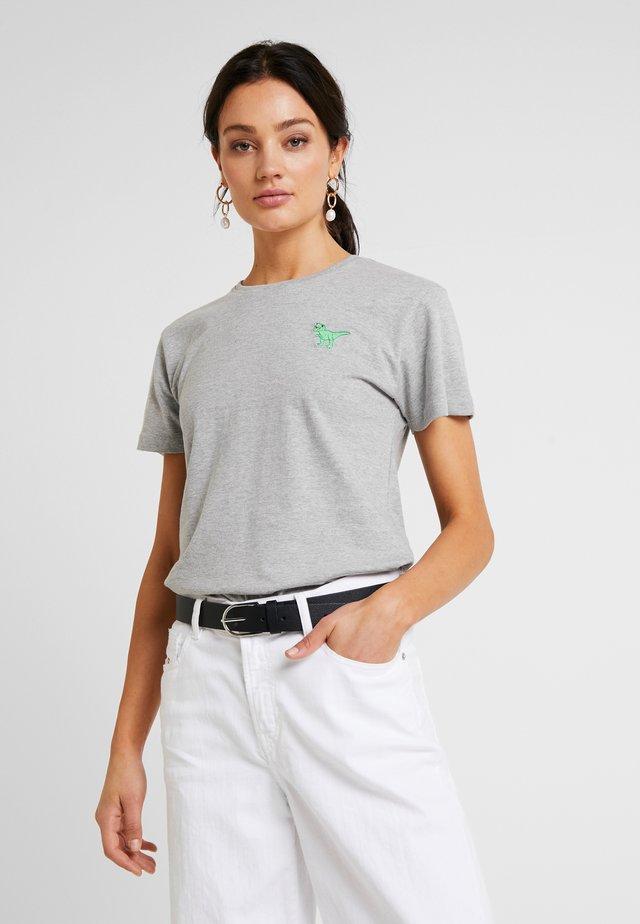 REX CROPPED - Basic T-shirt - heather