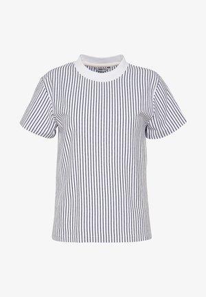 SURRY TEE - Print T-shirt - white/navyblue