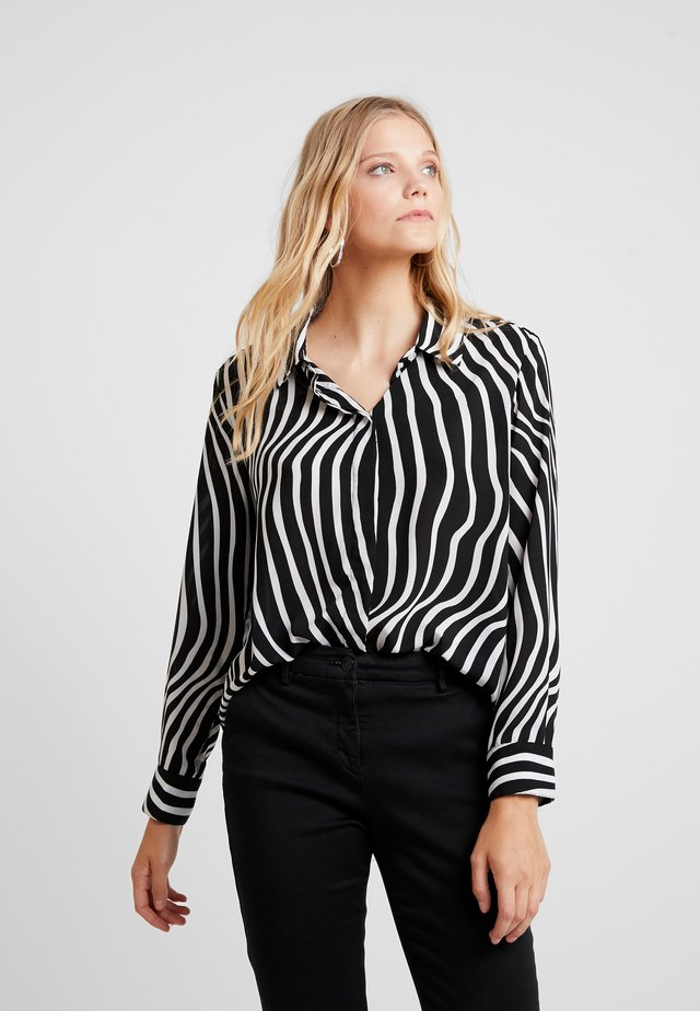 AIMEE - Button-down blouse - black/white