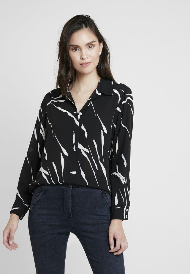 AIMEE - Button-down blouse - black/white