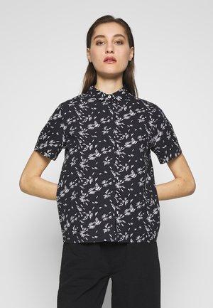 MATH - Button-down blouse - black/white