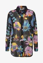 AIMEE - Button-down blouse - black/multi-coloured