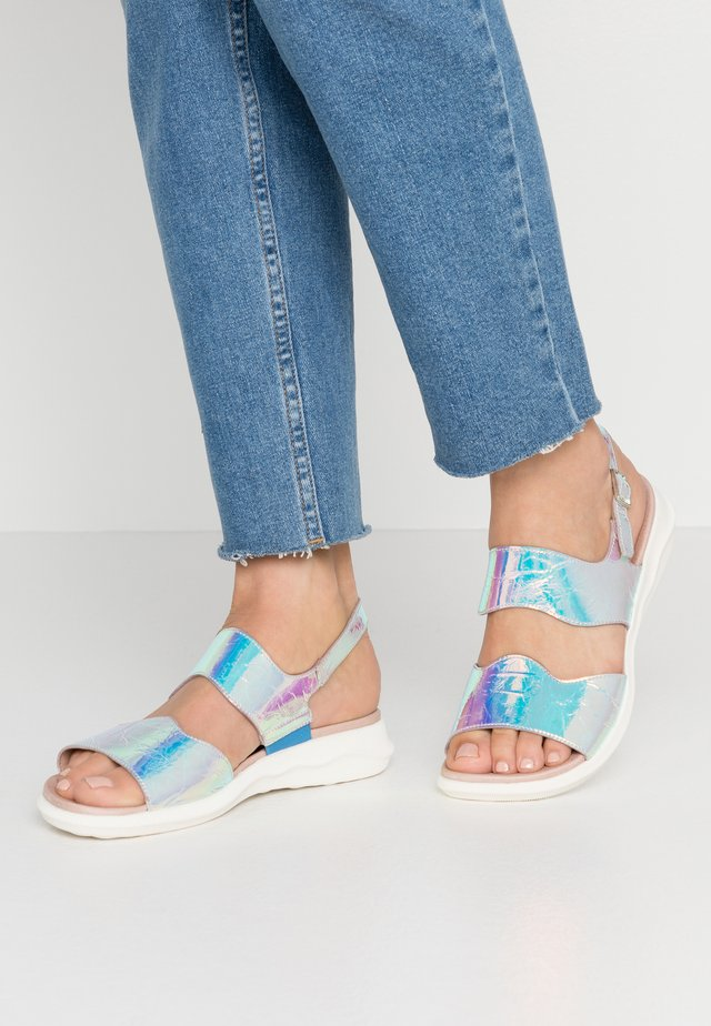 Sandals - metallic grey
