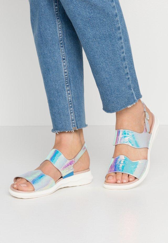 Sandaalit nilkkaremmillä - metallic grey