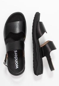WONDERS - Sandaalit nilkkaremmillä - black - 3
