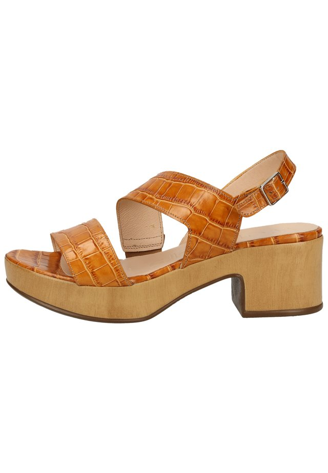 WONDERS SANDALEN - Platform sandals - coco brown