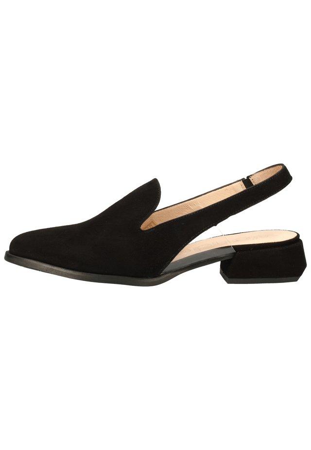 WONDERS HALBSCHUHE - Slingback ballet pumps - ante/vinil black