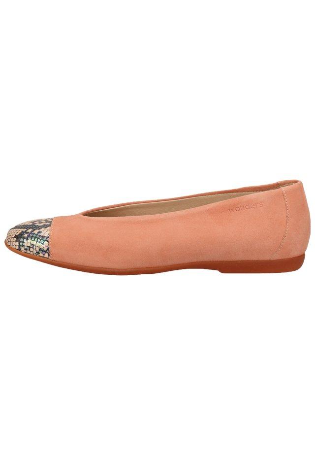 WONDERS BALLERINAS - Ballet pumps - snake/ante salmon