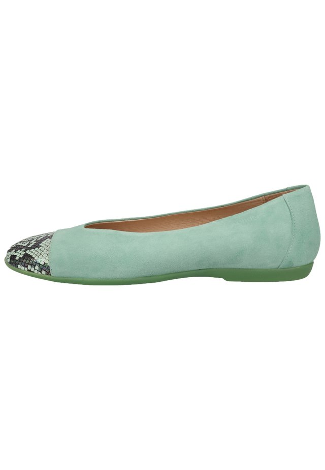 WONDERS BALLERINAS - Ballet pumps - snake/ante mint