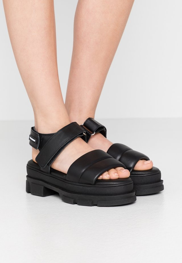 ELOUISE - Platform sandals - black