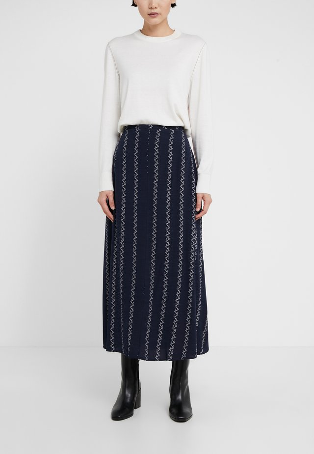 CAROL - Maxi skirt - dark blue