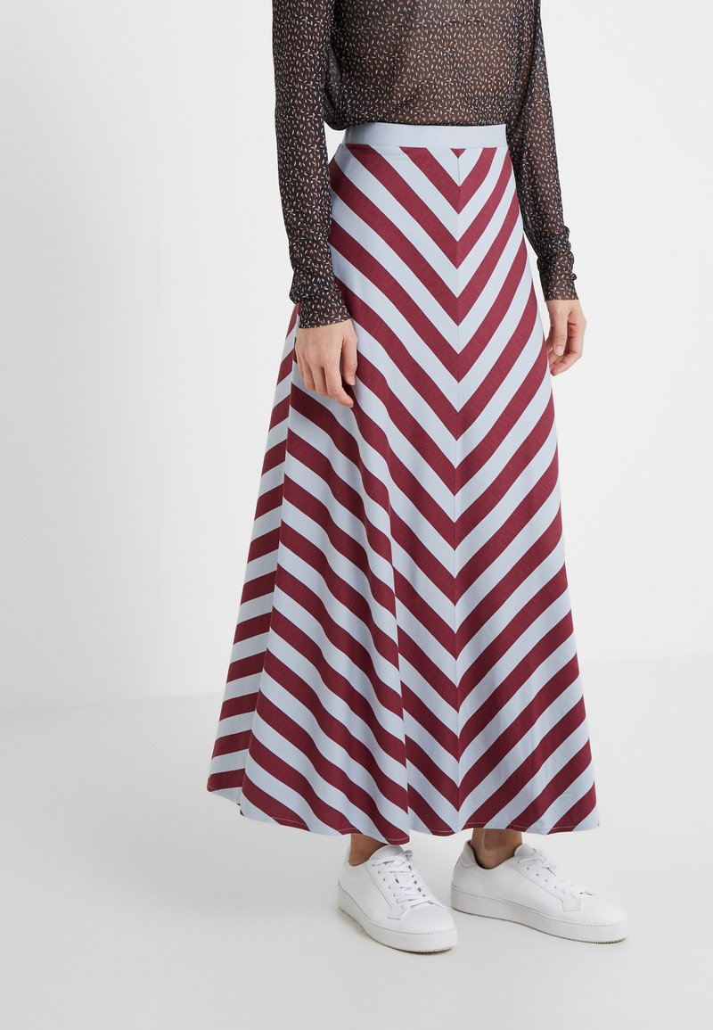 Won Hundred - CAROL  - A-line skirt - windsor wine stripe