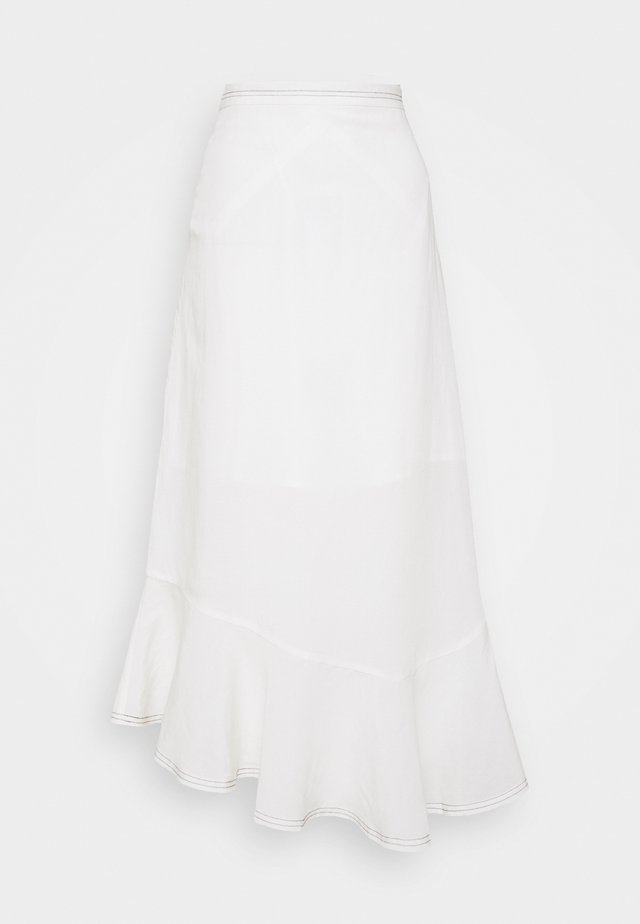 MAIKEN - Spódnica trapezowa - seedpearl white