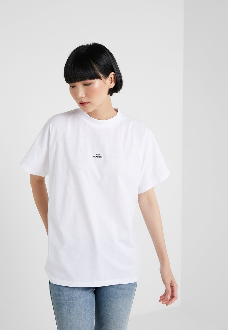 Won Hundred - BROOKLYN SOLID - Camiseta básica - white