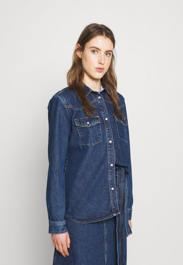 PERNILLA - Button-down blouse - rinse blue