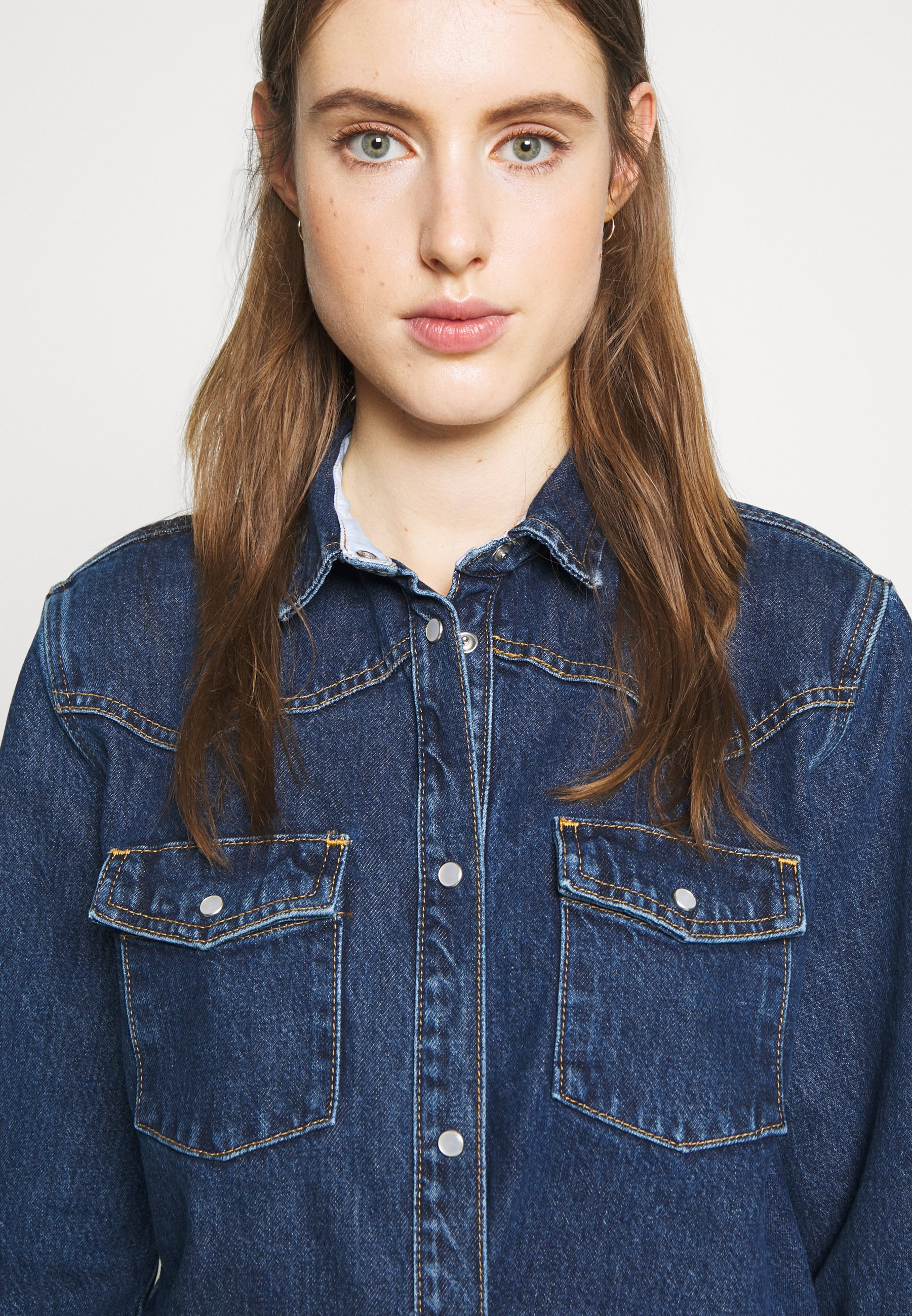 Won Hundred PERNILLA - Button-down blouse - rinse blue tuQNW