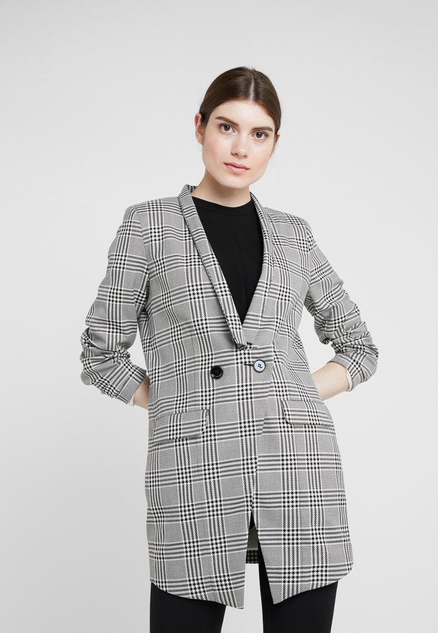 CHRISTINA - Short coat - black/white
