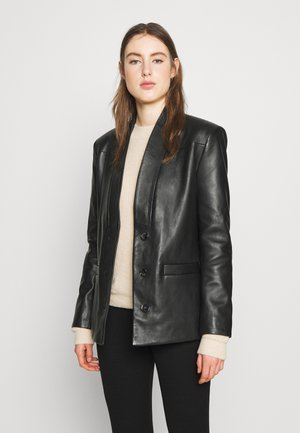 ALBERTA  - Leather jacket - black