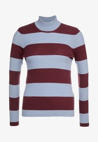 Won Hundred - ALEENA STRIPE - Strikkegenser - wine/fog - 4