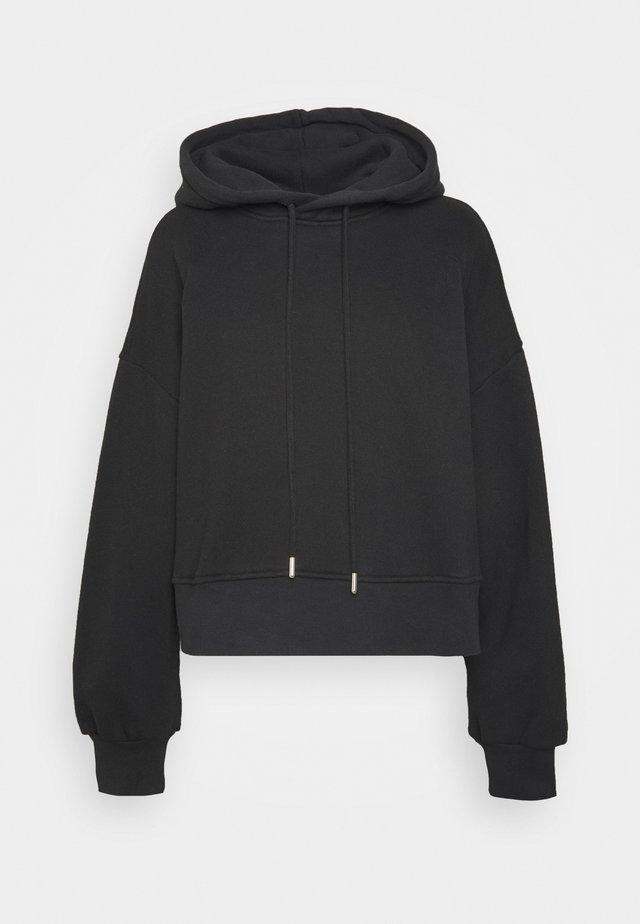 LILOU - Jersey con capucha - black