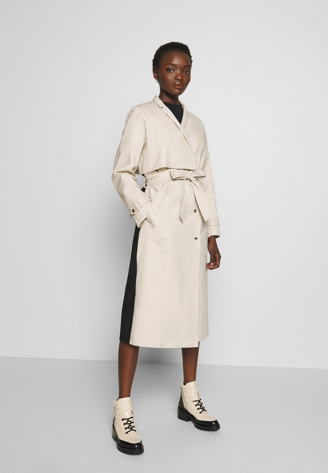 ROSEMARIE - Trenchcoats - oyster gray/black