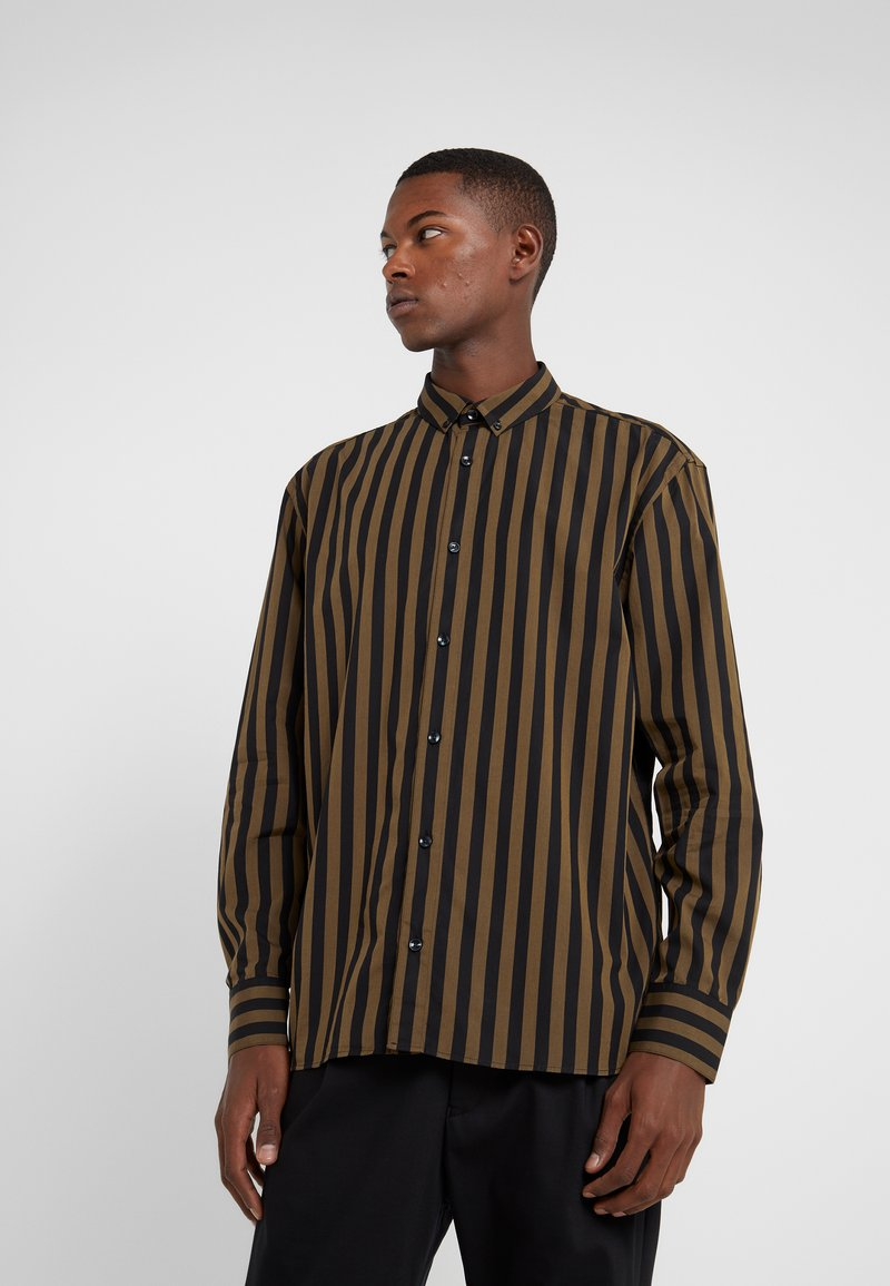 Won Hundred - OZZY - Shirt - dark olive stripe