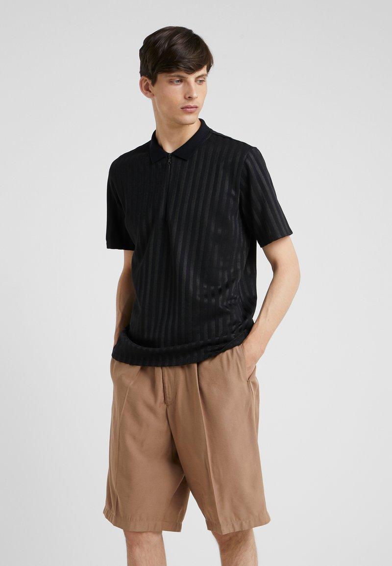 Won Hundred - SEAN ZIP - Poloshirt - black