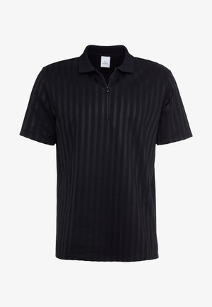 SEAN ZIP - Poloshirt - black