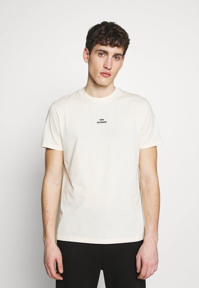 TROY - T-shirts med print - seedpearl white