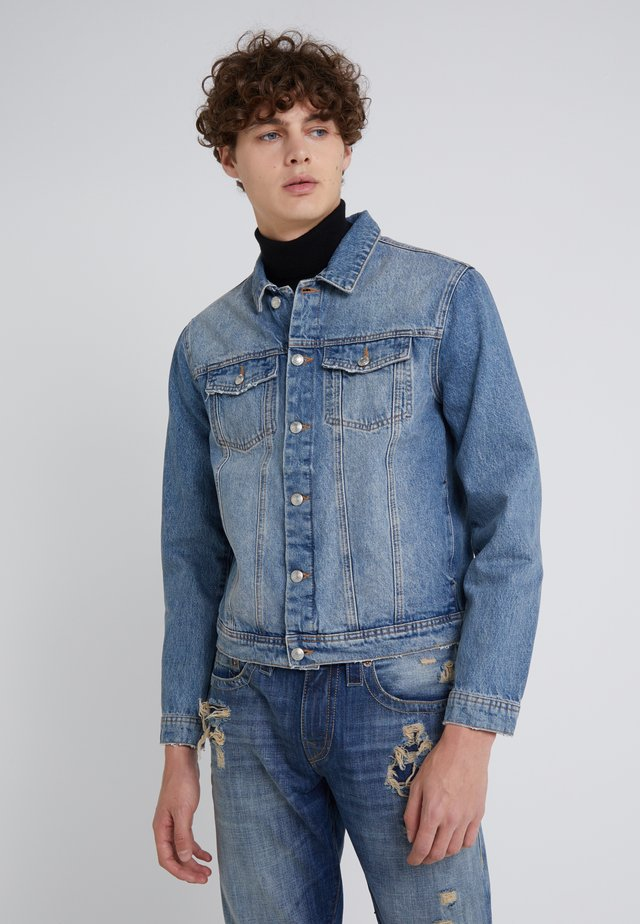 FOURTEEN DISTRESSED BUE - Jeansjacke - blue denim