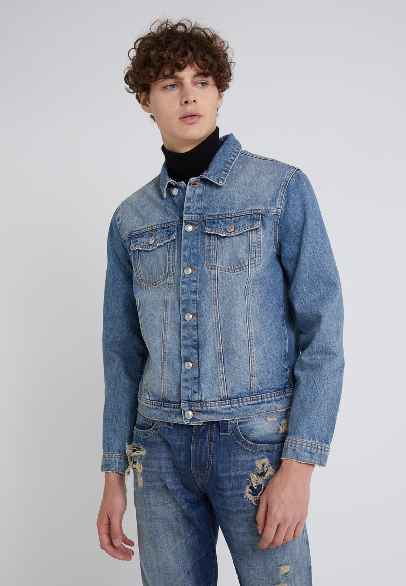 Won Hundred - FOURTEEN DISTRESSED BUE - Kurtka jeansowa - blue denim